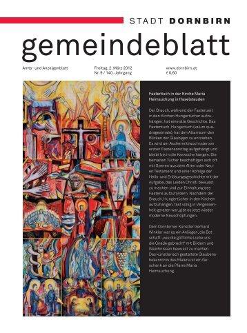 Dornbirner Gemeindeblatt KW 09 vom 02.03.2012