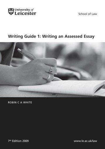 Writing Guide 1 Writing an Assessed Essay