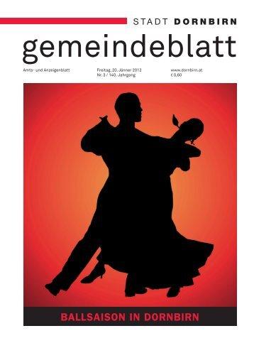 Dornbirner Gemeindeblatt KW 03 vom 20.01.2012