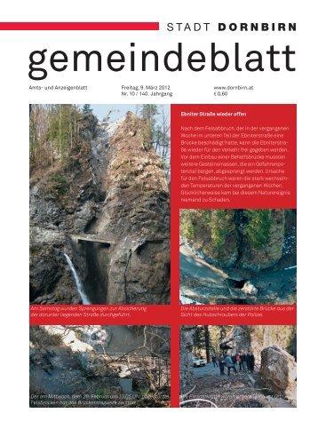 Dornbirner Gemeindeblatt KW 10 vom 09.03.2012