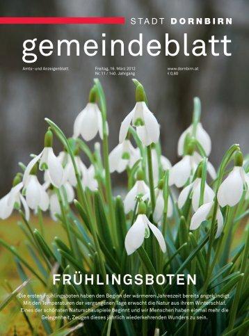 Dornbirner Gemeindeblatt KW 11 vom 16.03.2012