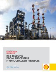 KEY LESSONS FROM SUCCESSFUL HYDROCRACKER PROJECTS