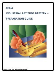 SHELL INDUSTRIAL APTITUDE BATTERY – PREPARATION GUIDE