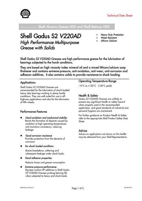 Shell Gadus S2 V220AD