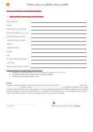 Pristopna izjava za pridobitev kartice euroShell
