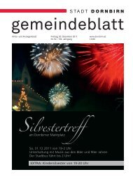 Dornbirner Gemeindeblatt KW 52 vom 30.12.2011