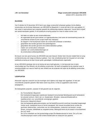 stageverslag ARCADIS - Willemijn van Donselaar