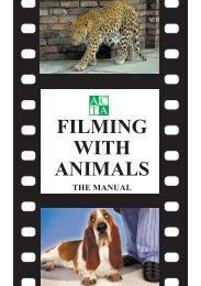 ACTA Filming with Animals - Animal Consultants and Trainers ...