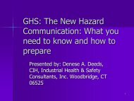 GHS: The New Hazard Communication