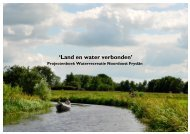 'Land en water verbonden'