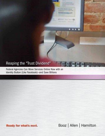 "Reaping the ""Trust Dividend"" - Booz Allen Hamilton"
