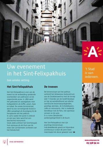 Uw evenement in het Sint-Felixpakhuis - Felix Archief