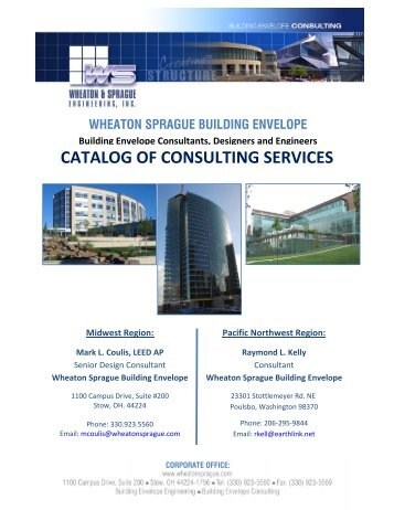 CATALOG OF CONSULTING SERVICES Midwest Region