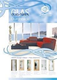 GEDE Design-Gläser · Holz-Glastüren · Ganzglas-Türen