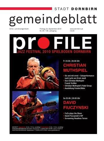 Dornbirner Gemeindeblatt KW 38 vom 24.09.2010