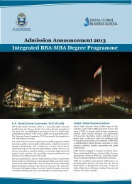 Admission Announcement 2013 Integrated BBA-MBA Degree Programme