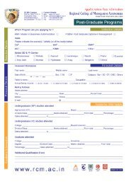 Application form - India College Search
