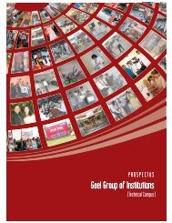 Goel Group of Institutions - India College Search