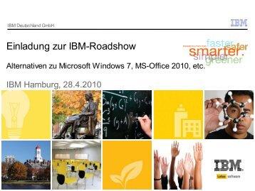 Einladung zur IBM-Roadshow