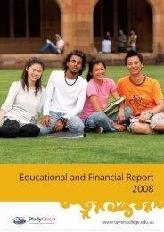 Educational and Financial Report 2008