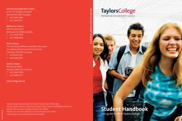 Download a copy of the Australian Pre-Arrival ... - Taylors College