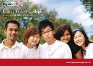 Life at Taylors College