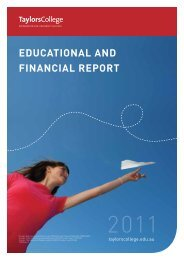 Taylors College Sydney Educational and Financial Report, 2011