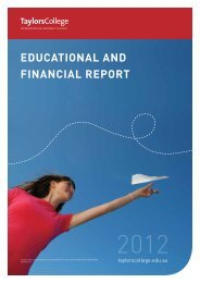 Taylors College Sydney Educational and Financial Report, 2012