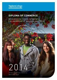 Download the 2014 Diploma of Commerce brochure - Taylors College