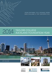 Download the 2014 AFY brochure - Taylors College