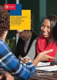 THE UNIVERSITY OF SYDNEY FOUNDATION PROGRAM USFP 2014