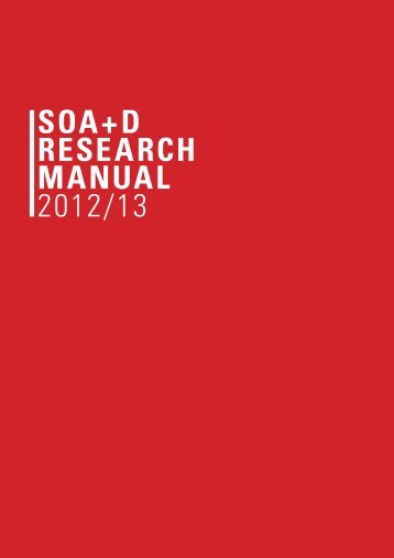 soa+d research manual - School of Architecture and Design, KMUTT