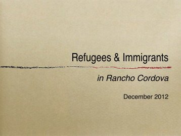 Refugees & Immigrants