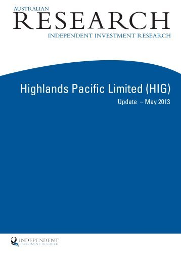 Highlands Pacific Limited (HIG)