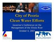 City of Peoria Clean Water Efforts