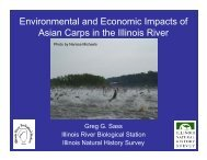 Environmental and Economic Impacts of Asian Carps in the Illinois River