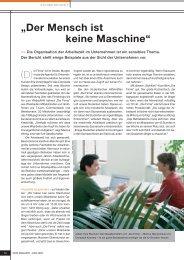 """""""Der Mensch ist keine Maschine"""" (D) - Die Firma GmbH"""