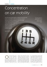 Concentration on car mobility