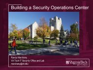 Building a Security Operations Center