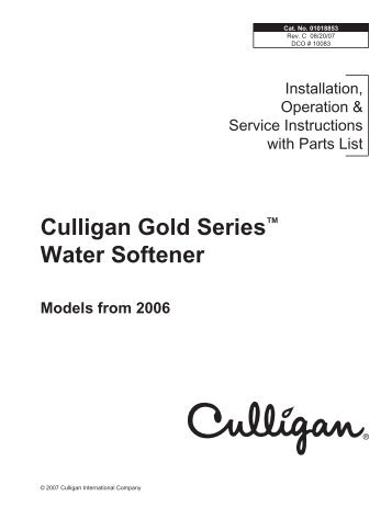 Mark 89 And 812 Culligan Water