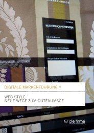 Digitale Markenführung // web style: neue wege ... - Die Firma GmbH