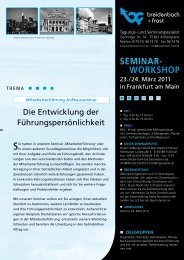 SEMINAR- WORKSHOP - breidenbach + frost