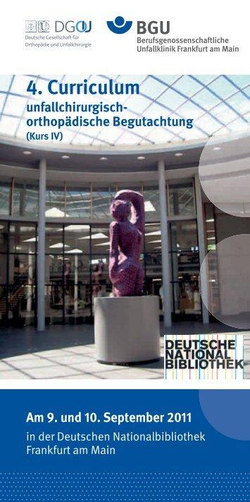 4. Curriculum - Berufsgenossenschaftliche Unfallklinik Frankfurt am ...