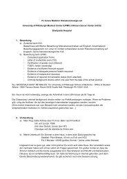 PJ Innere Medizin/ Hämatoonkologie am ... - (CIO) Köln Bonn