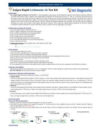 Anigen Rapid Leishmania Ab Test Kit