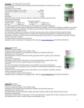 Acetylator 120 tablete pentru caini si pisici ... - Vet Diagnostic