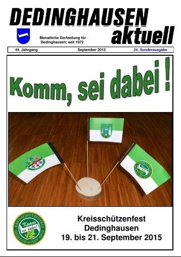 Sonderausgabe Kreisschützenfest