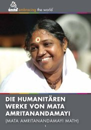 Die humanitären Werke von MATA AMRITANANDAMAYI