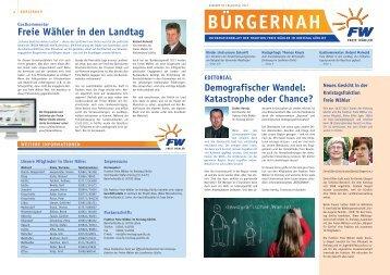 Freie Wähler in den Landtag - Freie Wähler Kreistag Görlitz