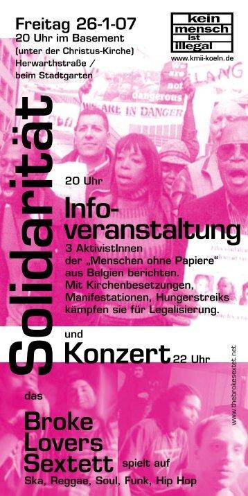 flyer - Kein Mensch ist illegal - Köln